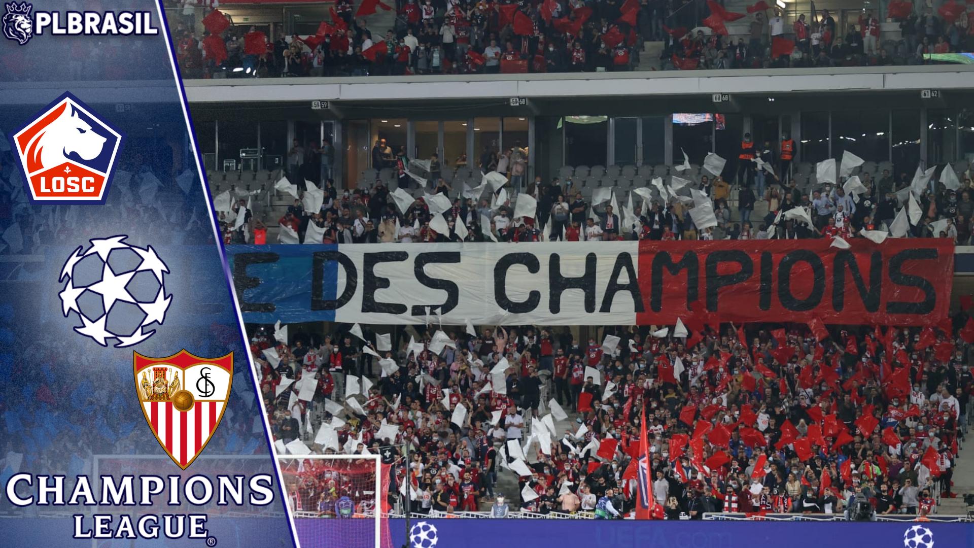 Lille x Sevilla – Prognóstico da 3ª rodada da Champions League 2021/22